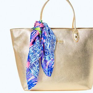 Lilly Pulitzer 'Pecking Order' Silk Scarf